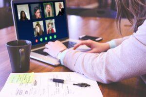 people having online meeting